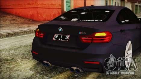 BMW M4 Stance 2014 para GTA San Andreas vista inferior