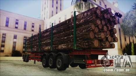 Iveco EuroTech Forest Trailer para GTA San Andreas esquerda vista