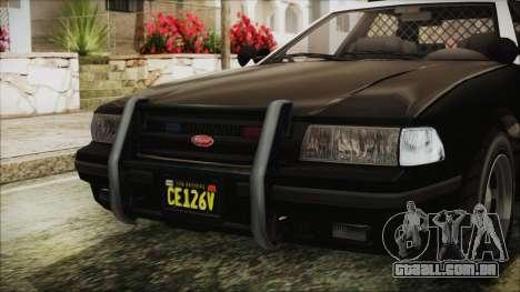 GTA 5 Vapid Stranier II Police Cruiser IVF para GTA San Andreas