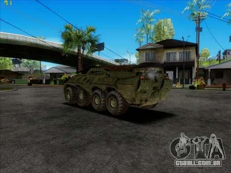 BTR 80 para GTA San Andreas esquerda vista