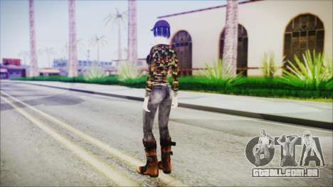 Clementine para GTA San Andreas terceira tela