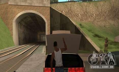 Abrir o capô ou o tronco mãos para GTA San Andreas segunda tela