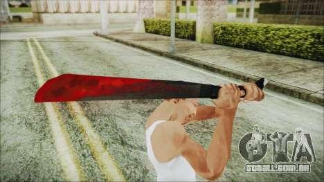 Jason Voorhes Weapon para GTA San Andreas terceira tela