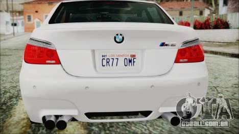 BMW M5 E60 2009 para GTA San Andreas vista superior