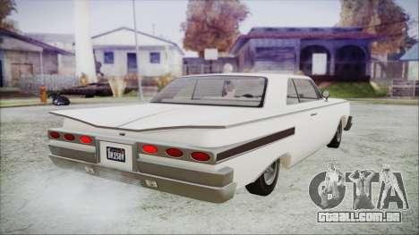 GTA 5 Declasse Clean Voodoo Hydra Version para GTA San Andreas esquerda vista