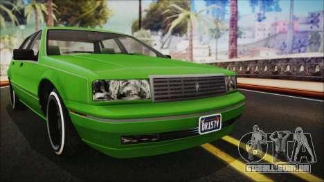 GTA 5 Albany Primo Custom No Interior IVF para GTA San Andreas vista direita