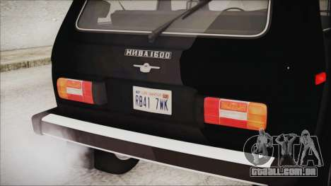 VAZ 2121 Niva 1600 2.0 para GTA San Andreas vista traseira