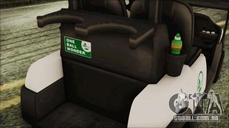 GTA 5 Golf Caddy para GTA San Andreas vista direita