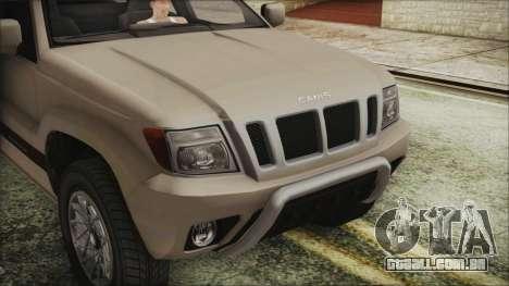 GTA 5 Canis Seminole IVF para GTA San Andreas vista direita