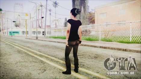 Left 4 Dead Rochelle para GTA San Andreas terceira tela