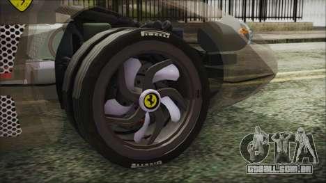 Ferrari P7 para GTA San Andreas traseira esquerda vista
