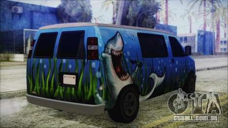 GTA 5 Bravado Paradise Shark Artwork para GTA San Andreas esquerda vista