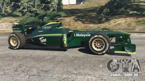 GTA 5 Lotus T127 vista lateral esquerda