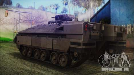 IFV-6C Panther Tracked IFV para GTA San Andreas esquerda vista