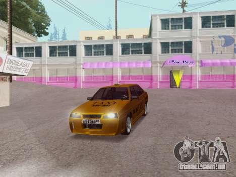 VAZ 21099 Tuning Russian Taxi para GTA San Andreas vista direita