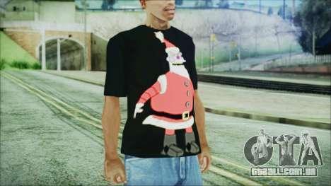 Santa T-Shirt para GTA San Andreas segunda tela