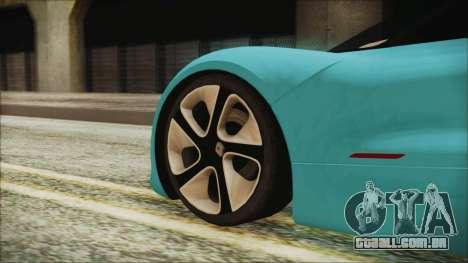 Renault Dezir Concept 2010 v1.0 para GTA San Andreas traseira esquerda vista