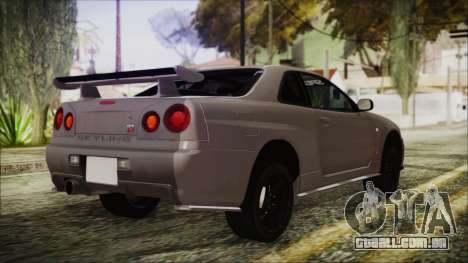 Nissan Skyline Nismo Body Kit para GTA San Andreas esquerda vista