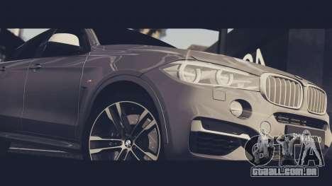 BMW X6M 50D para GTA San Andreas vista direita