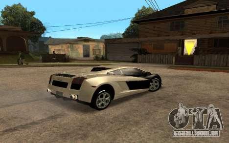 Lamborghini Gallardo Tunable v2 para GTA San Andreas esquerda vista