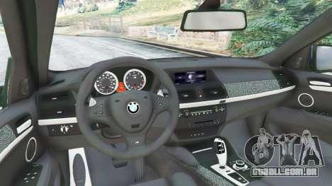 GTA 5 BMW X6 M (E71) v1.5 traseira direita vista lateral