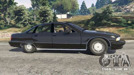 GTA 5 Chevrolet Caprice 1991 v1.2 vista lateral esquerda
