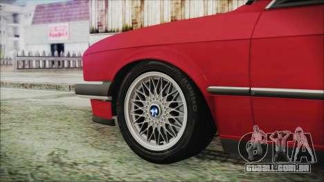 BMW 320i E21 1985 SA Plate para GTA San Andreas traseira esquerda vista