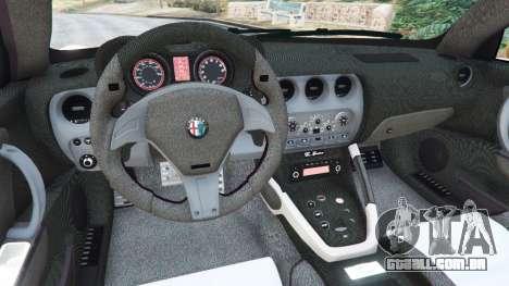 GTA 5 Alfa Romeo 8C Spider 2012 traseira direita vista lateral