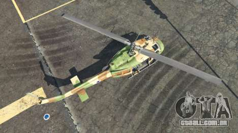 GTA 5 Bell UH-1D Israeli Air Force quarto screenshot