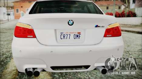 BMW M5 E60 2009 para GTA San Andreas vista inferior