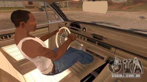 GTA 5 Declasse Clean Voodoo Hydra Version para GTA San Andreas vista direita