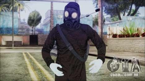 GTA 5 Online The Heist Gasmask White para GTA San Andreas