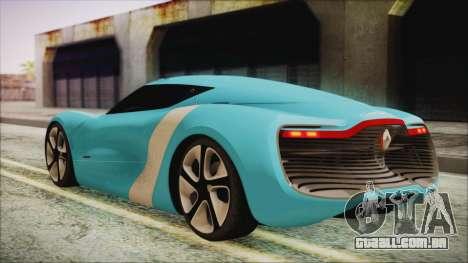 Renault Dezir Concept 2010 v1.0 para GTA San Andreas esquerda vista