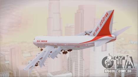 Boeing 747-237Bs Air India Vikramaditya para GTA San Andreas esquerda vista
