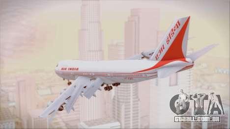 Boeing 747-237Bs Air India Vikramaditya para GTA San Andreas esquerda vista
