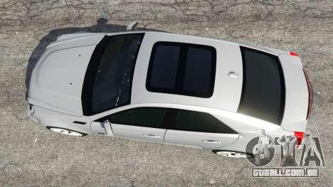 GTA 5 Cadillac CTS-V 2009 voltar vista