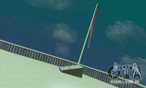 Armênia bandeira sobre o monte Chiliad para GTA San Andreas segunda tela