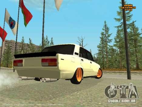 VAZ 2107 Carro para GTA San Andreas traseira esquerda vista