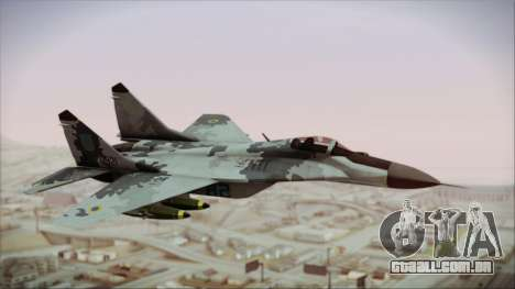 MIG-29 Fulcrum Ukrainian Falcons para GTA San Andreas