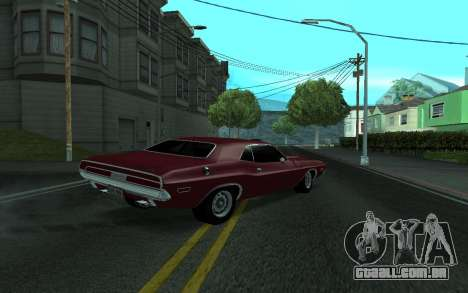 Dodge Challenger Tunable para GTA San Andreas esquerda vista