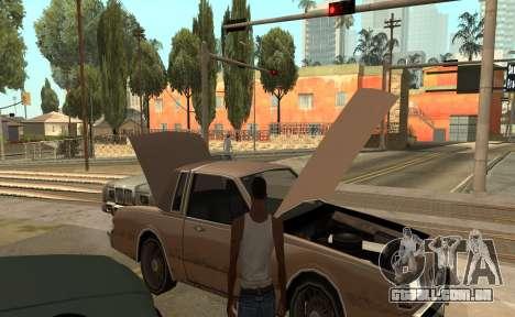 Abrir o capô ou o tronco mãos para GTA San Andreas terceira tela