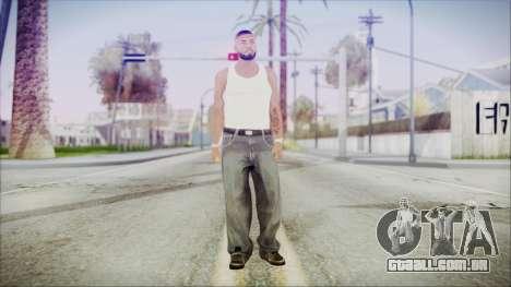GTA 5 Grove Gang Member 3 para GTA San Andreas segunda tela