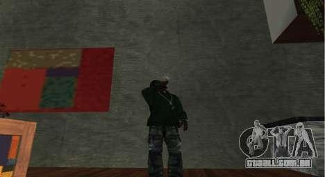 Italian bar Gangstaro in Dos Santos para GTA San Andreas por diante tela