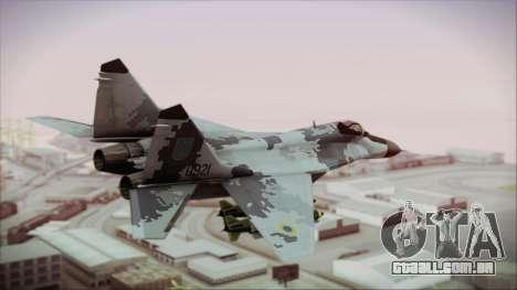 MIG-29 Fulcrum Ukrainian Falcons para GTA San Andreas esquerda vista