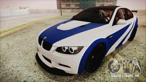 BMW M3 GTS 2011 HQLM para GTA San Andreas vista traseira