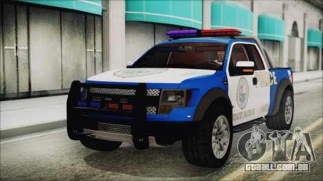 Ford F-150 SVT Raptor 2012 Police Version para GTA San Andreas
