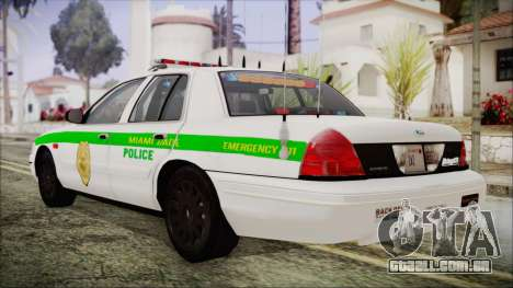 Ford Crown Victoria Miami Dade para GTA San Andreas esquerda vista