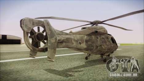 Tom Clancys Splinter Cell Blacklist Scout para GTA San Andreas esquerda vista