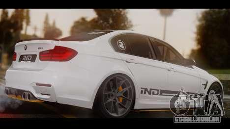 BMW M3 F30 IND EDITION para GTA San Andreas esquerda vista