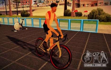 GTA V Endurex Race Bike para GTA San Andreas traseira esquerda vista